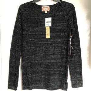 NWT Ambiance Black/Charcoal Sweater